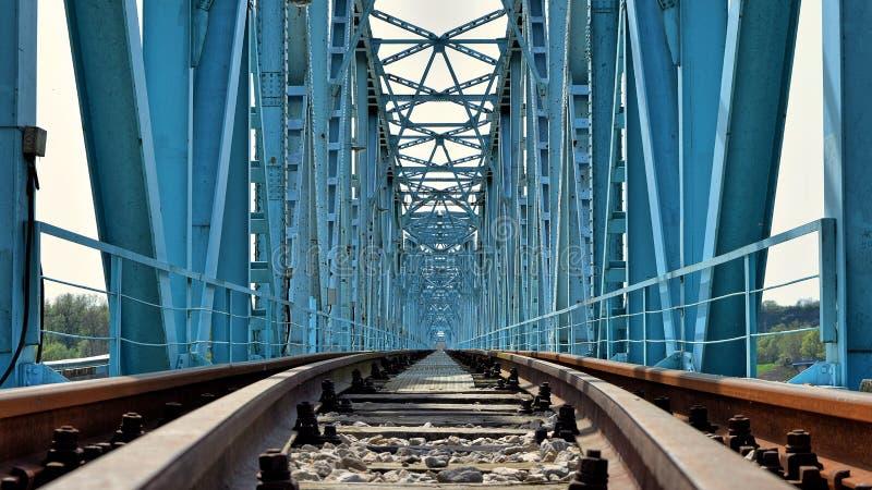 Ponte ferroviario, struttura interna fotografie stock libere da diritti