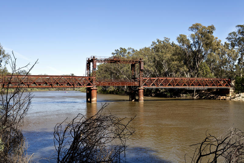 Ponte ferroviario a Tocumwal fotografie stock