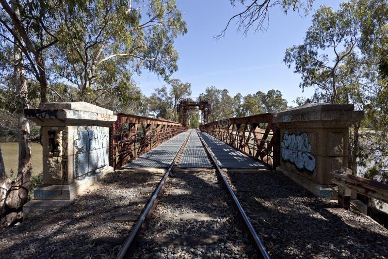 Ponte ferroviario a Tocumwal fotografie stock libere da diritti