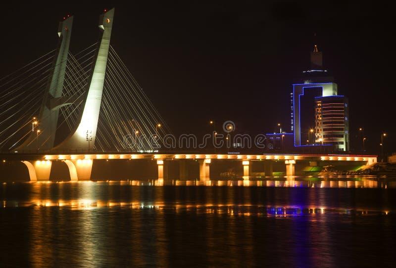 Ponte Fushun Liaoning China de Tianhu fotos de stock royalty free