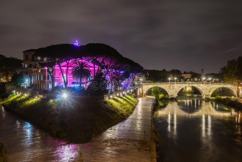 Ponte Garibaldi History City Rome Empire stock photo