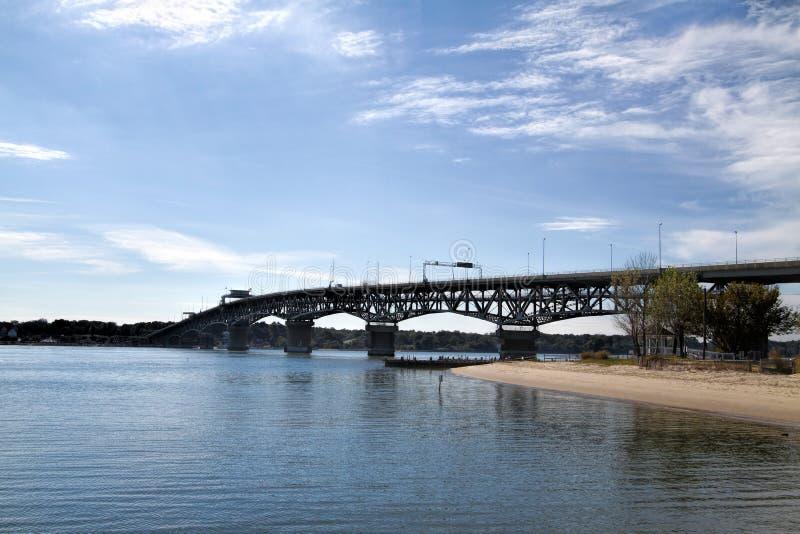 Ponte Hampton Virginia della strada dell'atterraggio dei coloni fotografia stock libera da diritti