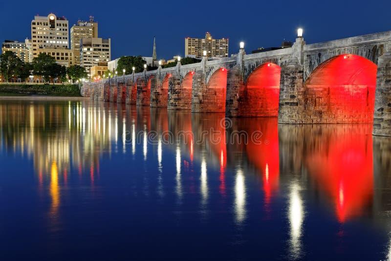 Ponte Harrisburg Pensilvânia da rua do mercado fotos de stock royalty free