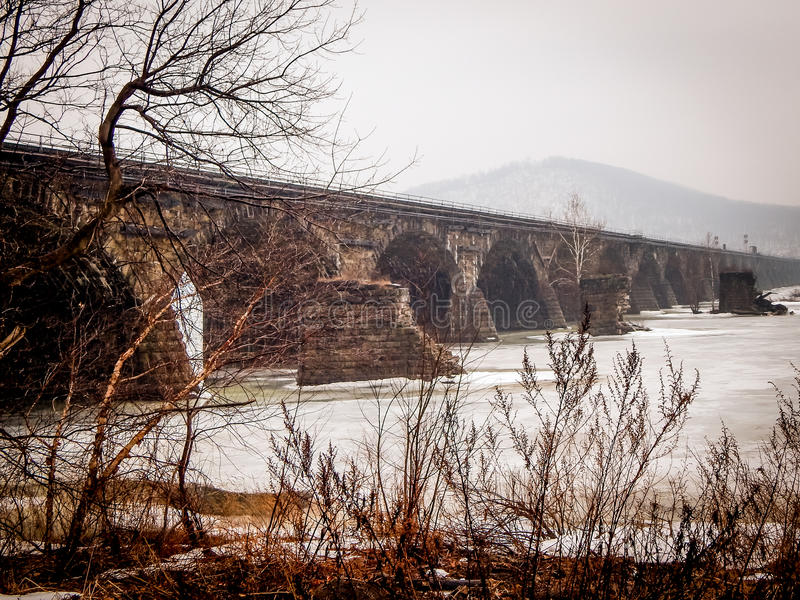 Ponte histórica de Rockville em Harrisburg fotos de stock