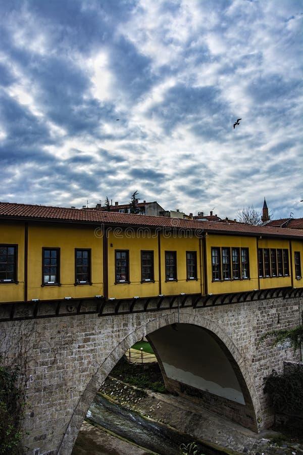 Ponte histórica do irgandi fotografia de stock