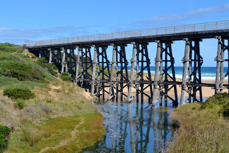 Download Ponte do trilho foto de stock. Imagem de azul, trilho - 29843598