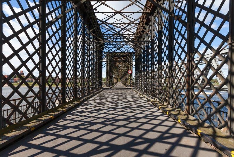 Ponte histórica em Tczew, Polônia foto de stock