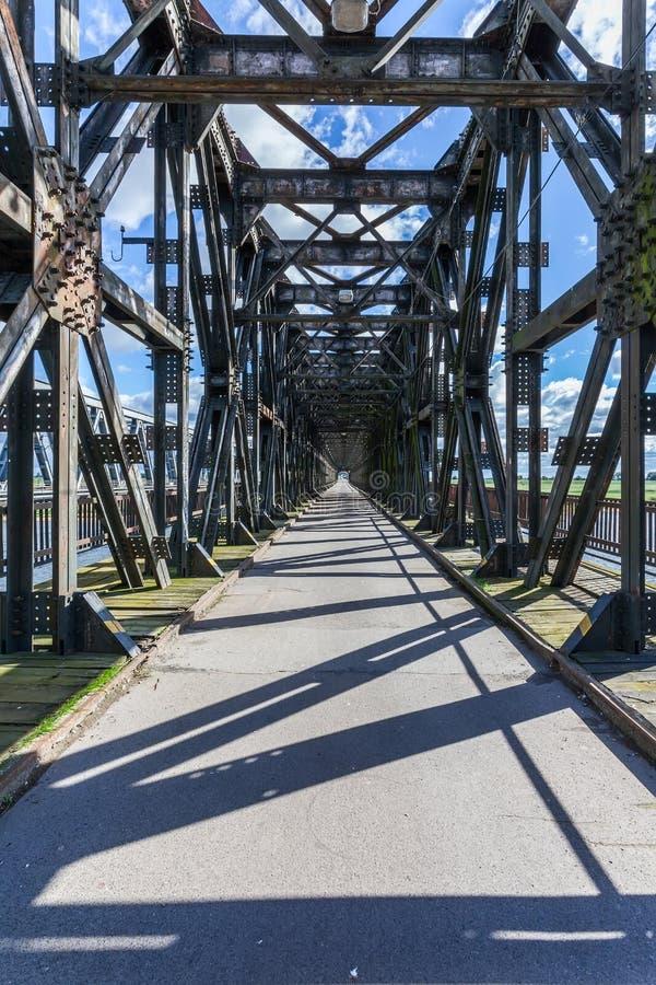 Ponte histórica em Tczew, Polônia imagem de stock royalty free
