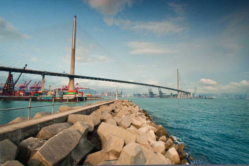 Ponte Hong Kong dos Stonecutters imagens de stock
