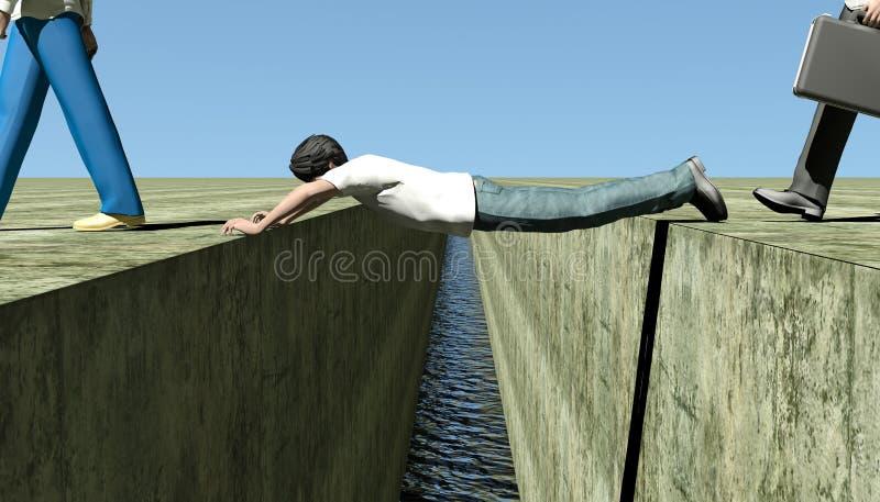 Ponte humana ilustração royalty free