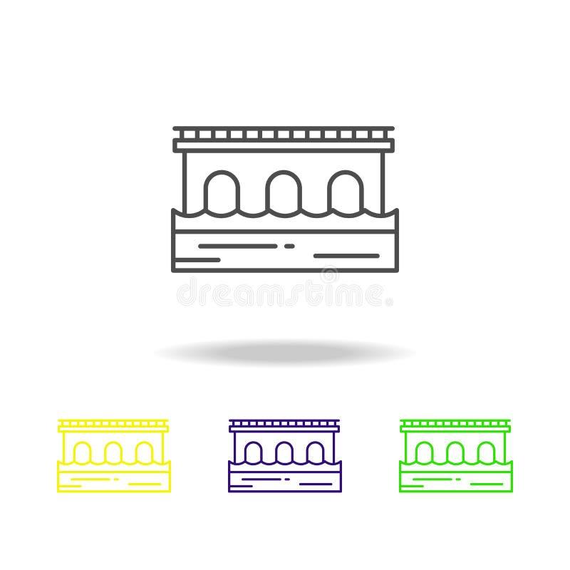Ponte, icona colorata strada Può essere usato per il web, il logo, il app mobile, UI, UX royalty illustrazione gratis