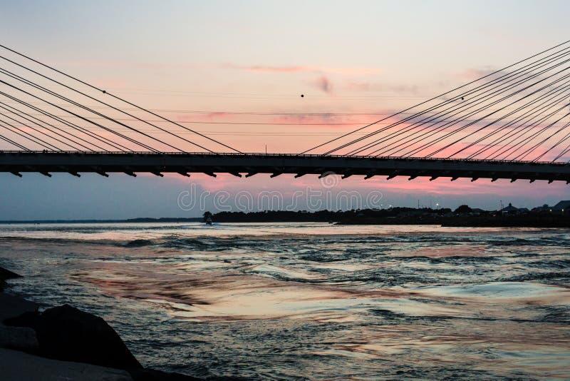 Ponte indiana da entrada do rio fotografia de stock