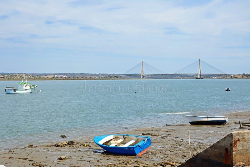 Ponte internacional do rio e da Guadiana, Ayamonte imagens de stock royalty free