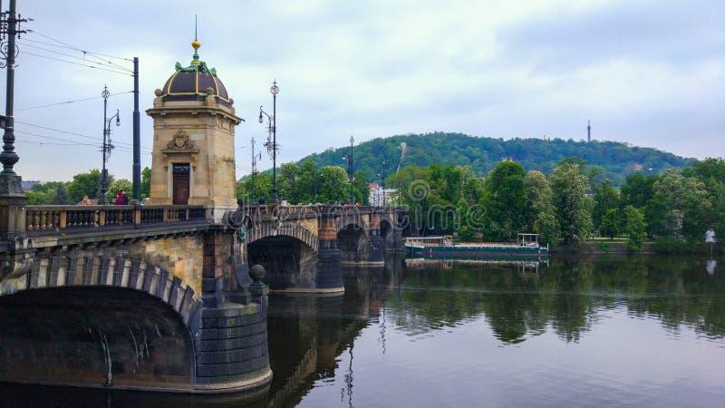 Ponte Legion Most Legií, sétima ponte da República Checa de Praga foto de stock