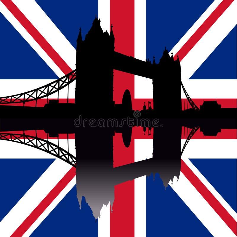 Ponte Londres da torre ilustração stock