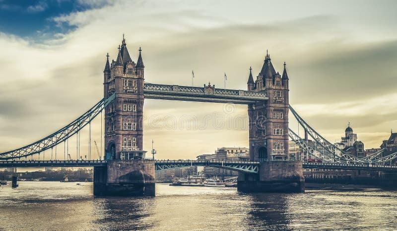 Ponte Londres da torre, vista horizontal imagem de stock