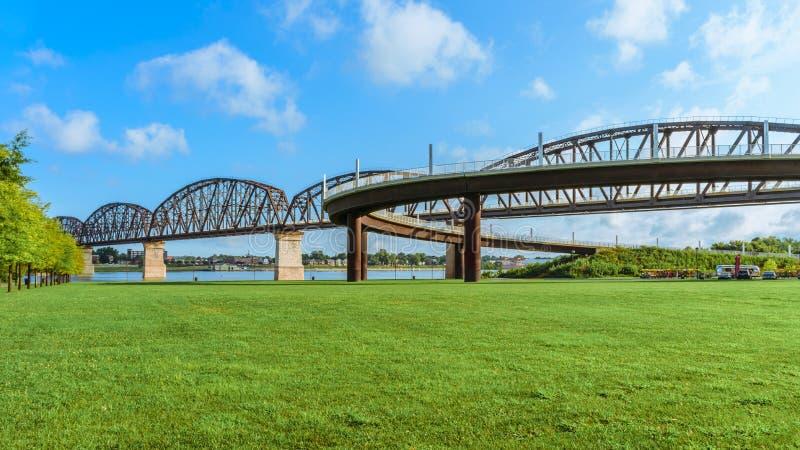 Ponte Louisville KY de Big Four foto de stock royalty free