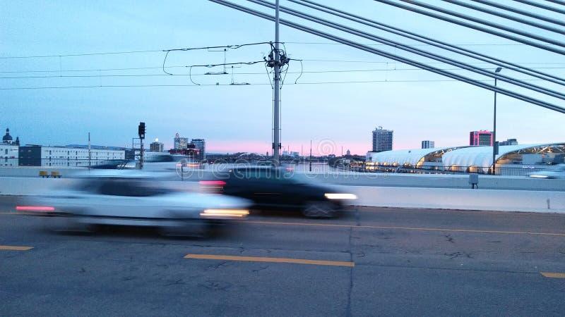 Ponte Ludwigshafen sul Reno immagini stock libere da diritti