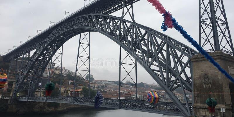 Ponte Luis I, Oporto, Portogallo fotografie stock libere da diritti