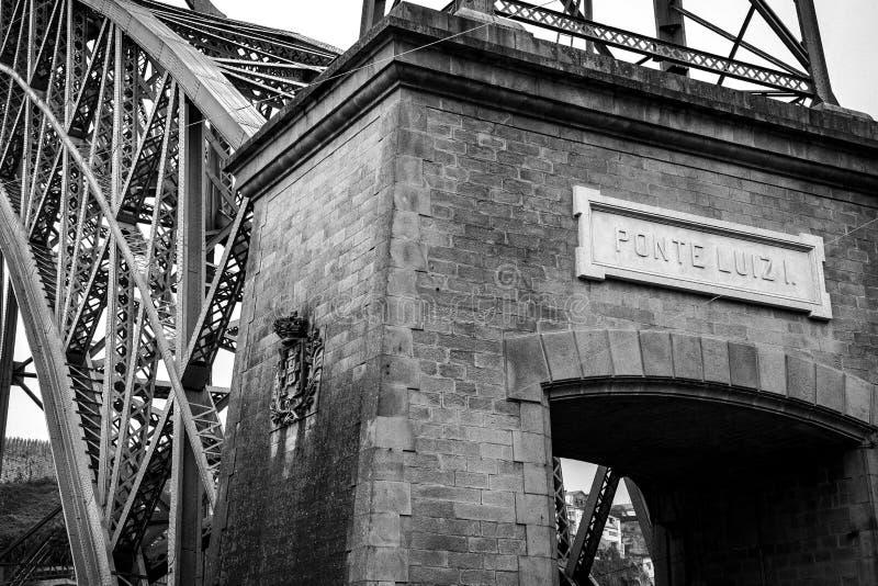 Ponte Luis mim cidade de Porto imagens de stock royalty free