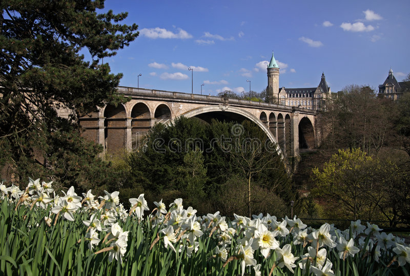Ponte Luxembourg de Pont Adolfo imagem de stock royalty free