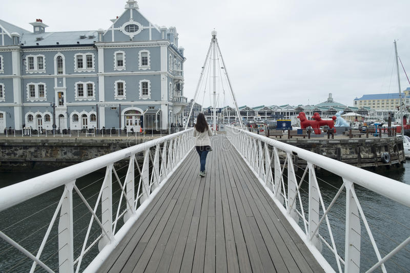 Ponte móvel no porto da margem imagens de stock royalty free