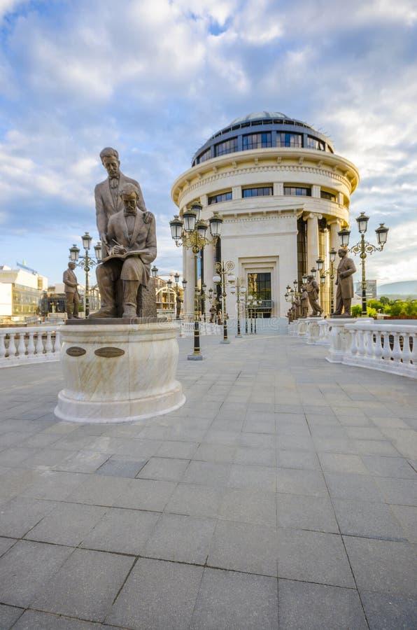 Ponte macedone di ARTE, Skopje fotografie stock libere da diritti