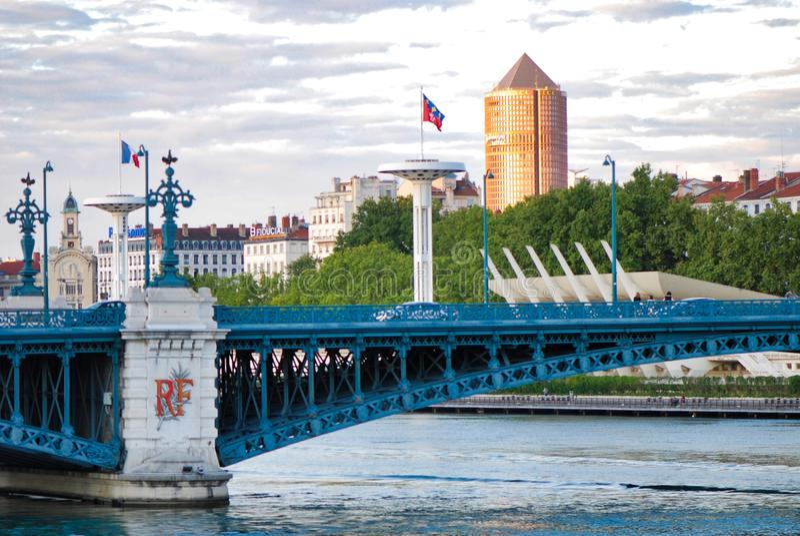 ponte, marco, água, relação fixa, rio, cidade, céu fotografia de stock