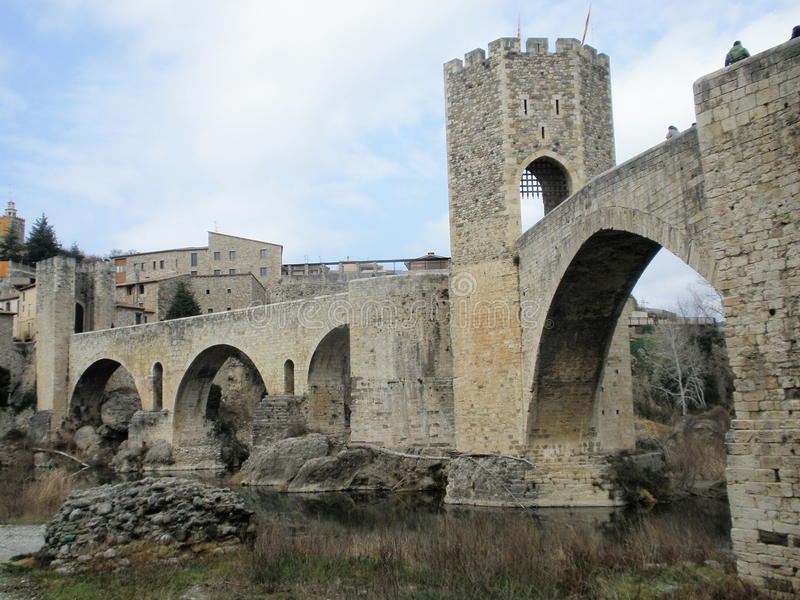 Ponte medieval imagem de stock