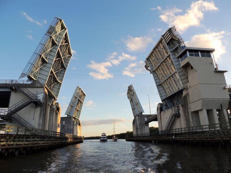 Ponte mobile fotografie stock