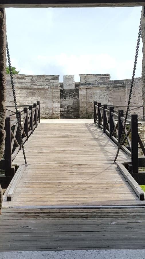 Ponte mobile di Castillo De San Marco fotografia stock