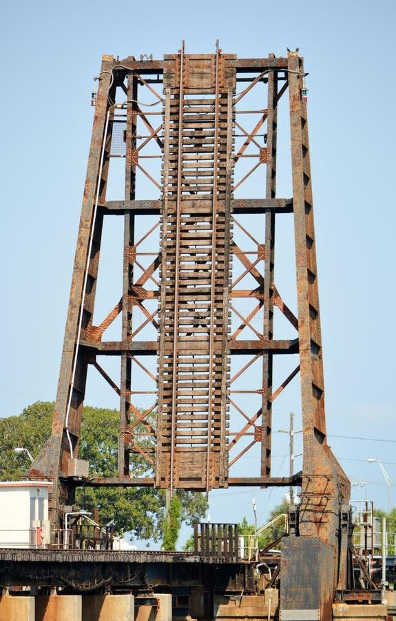 Ponte mobile industriale della ferrovia fotografia stock libera da diritti