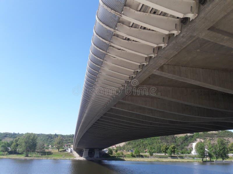 A ponte moderna da arquitetura sob a estrada relacionou-se ao presidente esquerdista do partido em relação à luta da libertação d imagens de stock
