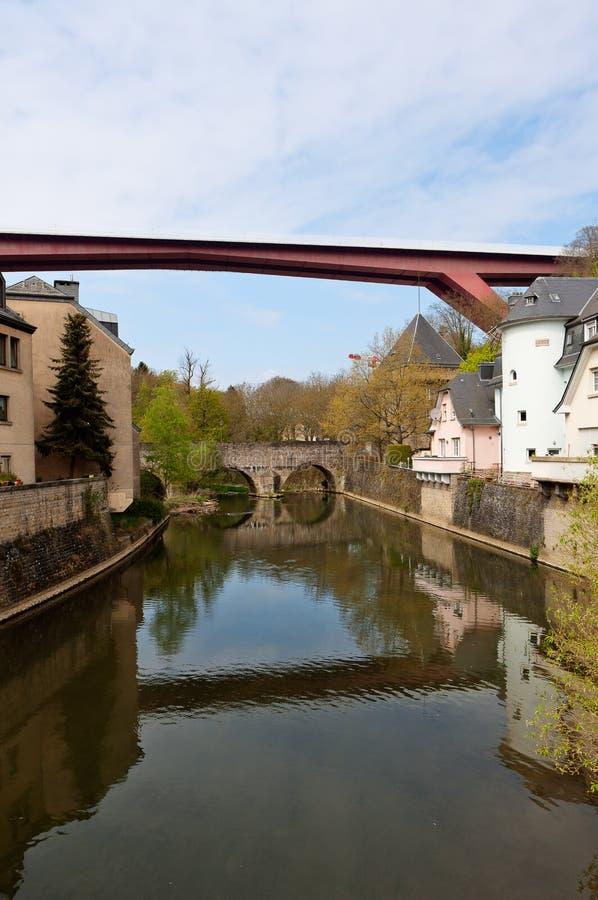 Ponte moderna Luxemburgo fotografia de stock royalty free