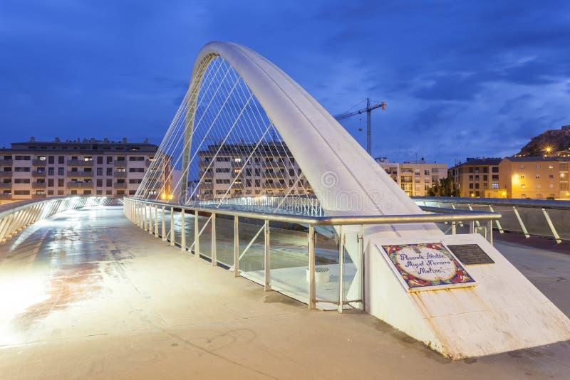 Ponte moderno a Lorca, Spagna fotografia stock libera da diritti
