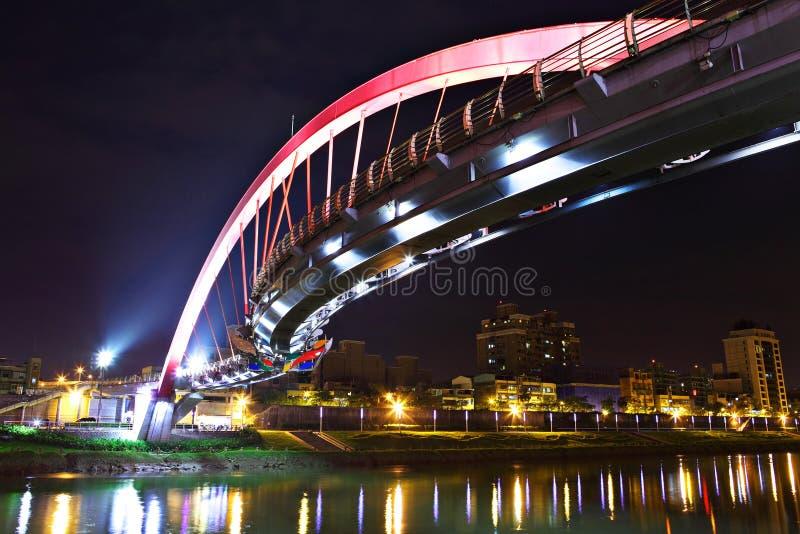 Ponte na noite em Taipei fotos de stock royalty free