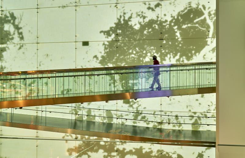 Ponte nel museo di arte fotografia stock libera da diritti