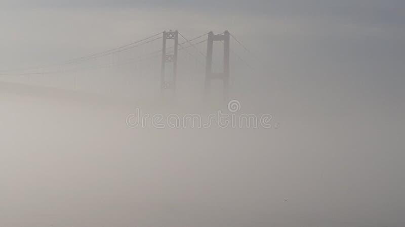 Ponte nella nebbia fotografia stock libera da diritti