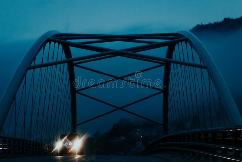Ponte nella norvegia fotografia stock