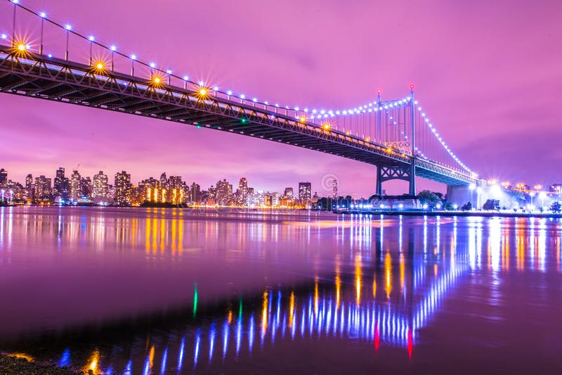Ponte New York di NYC RFK immagini stock