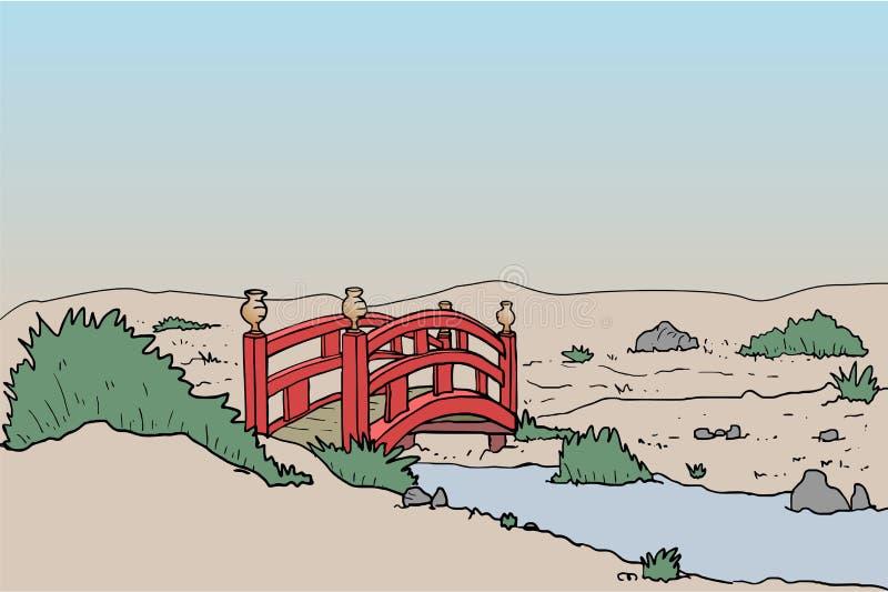 Ponte no arquivado ilustração royalty free