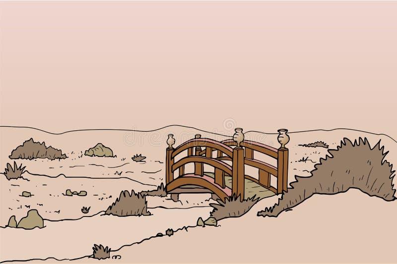 Ponte no arquivado ilustração do vetor