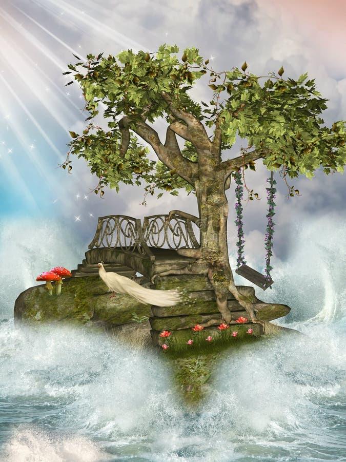 Ponte no mar ilustração royalty free