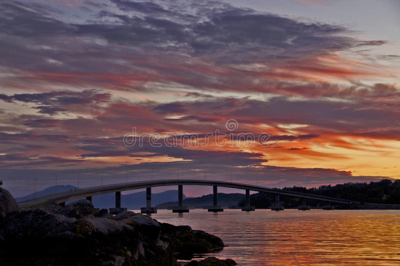 Ponte no por do sol foto de stock royalty free