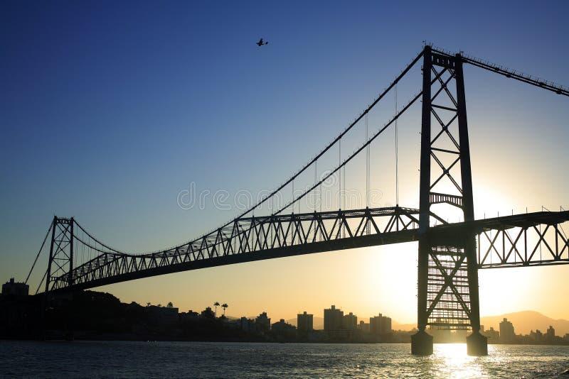 Ponte no por do sol fotografia de stock royalty free
