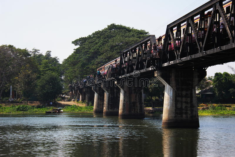 Ponte no rio Kwai foto de stock