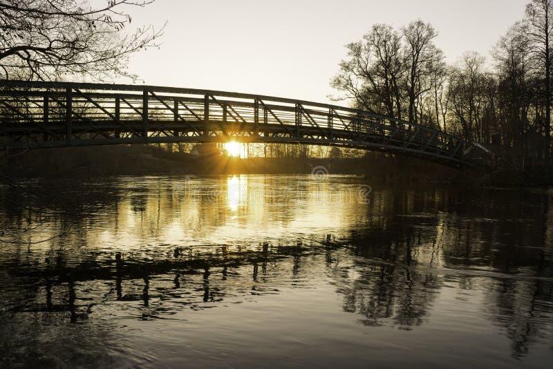 Ponte in Norrköping fotografia stock libera da diritti