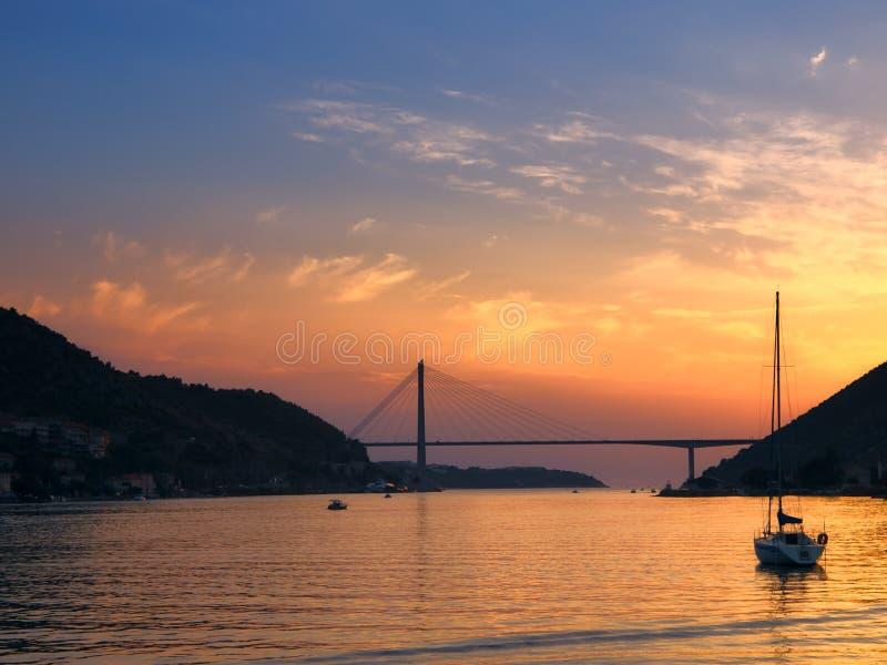 Ponte nova de Dubrovnik fotografia de stock royalty free