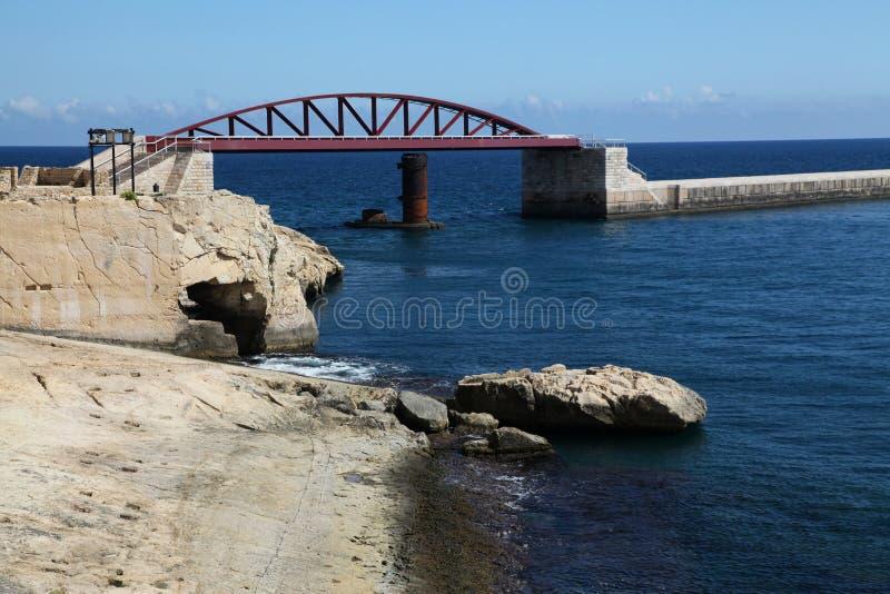 Ponte nova do quebra-mar foto de stock royalty free