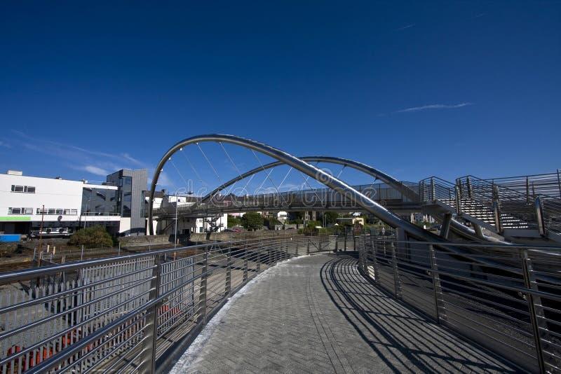 A ponte nova em Holyhead fotos de stock royalty free